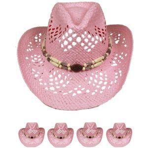 WESTERN COWBOY HAT WOMEN PINK